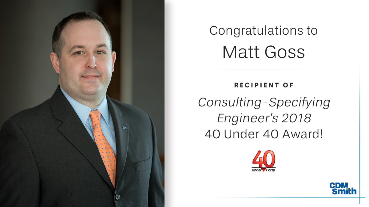 Matt Goss CSE 40 under 40 Award