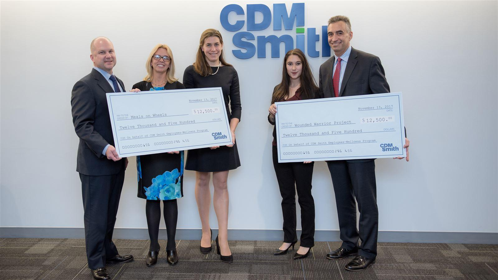 CDM Smith Donates $25,000 to Meals on Wheels America and Wounded Warrior Project - CDM Smith